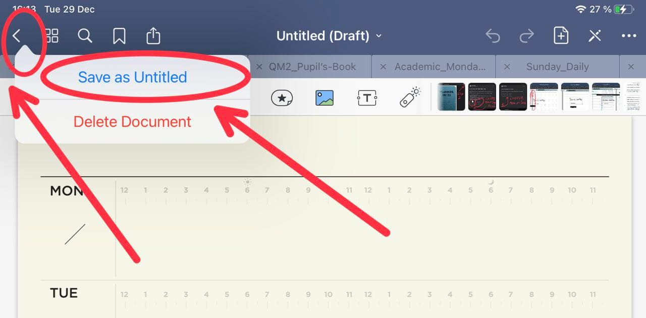 how to save document in goodnotes ipadplanner.com