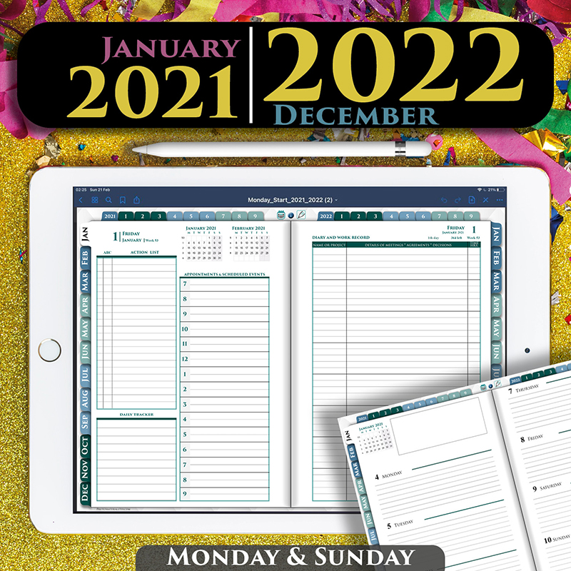 Digital Daily Franklin Planner 2021 for goodnotes