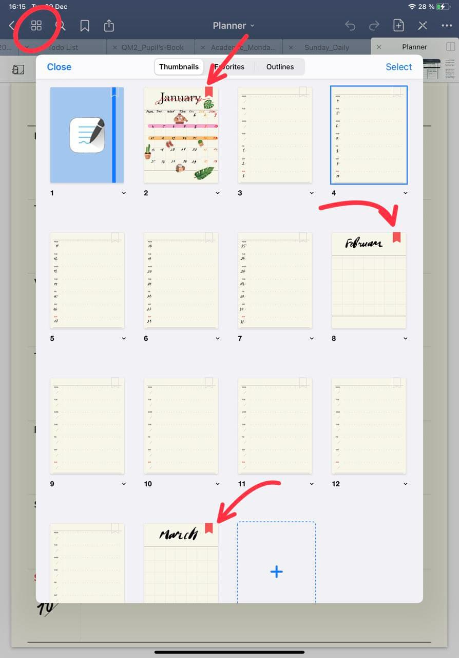how to use bookmarks in goodnotes ipadplanner.com