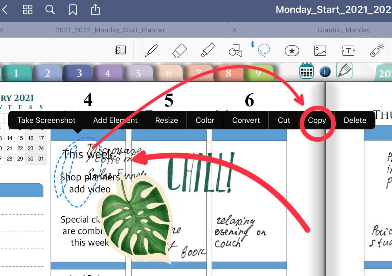 copy and paste in goodnotes 5 ipadplanner.com