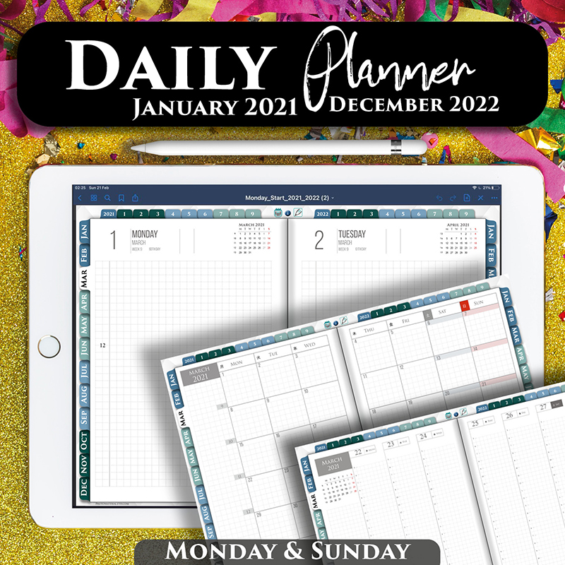 Digital Hobonichi planner for goodnotes and notability
