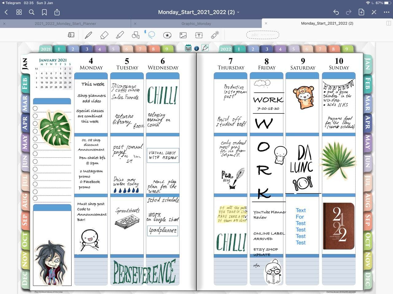 2021 2022 digital weekly planner for goodnotes ipadplanner.com