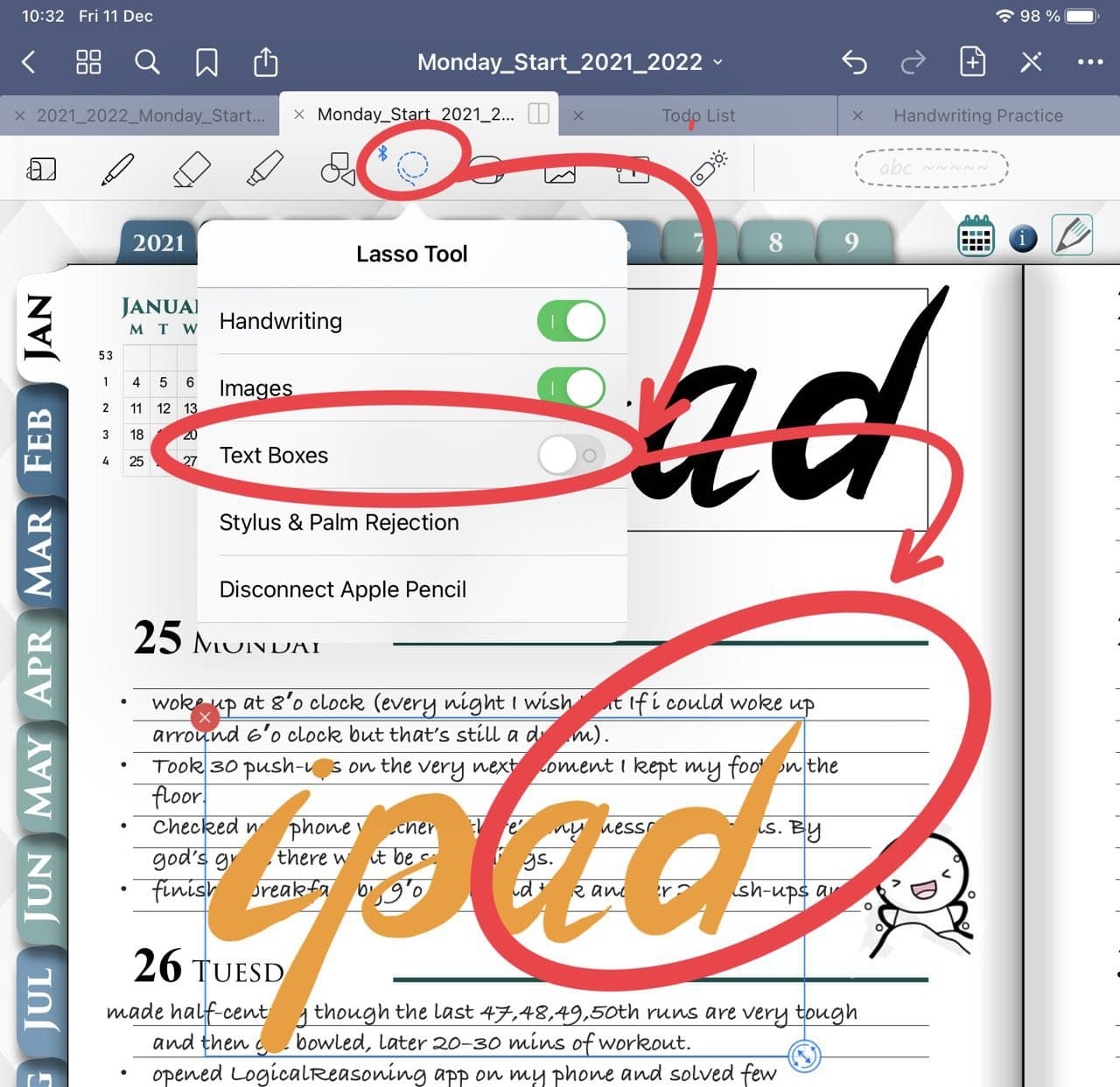 How to select different objects in goodnotes ipadplanner.com