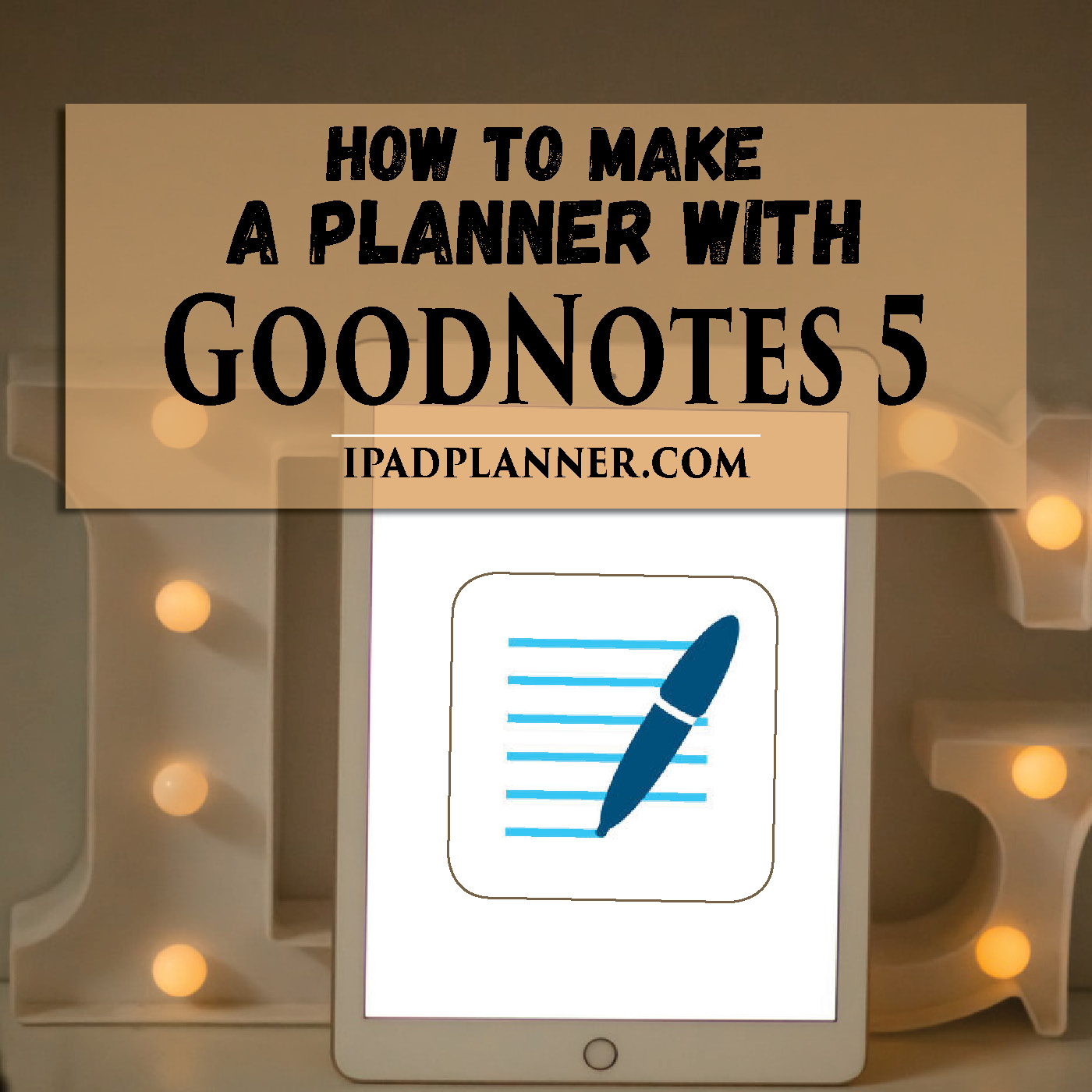 How To Make a digital planner in goodnotes