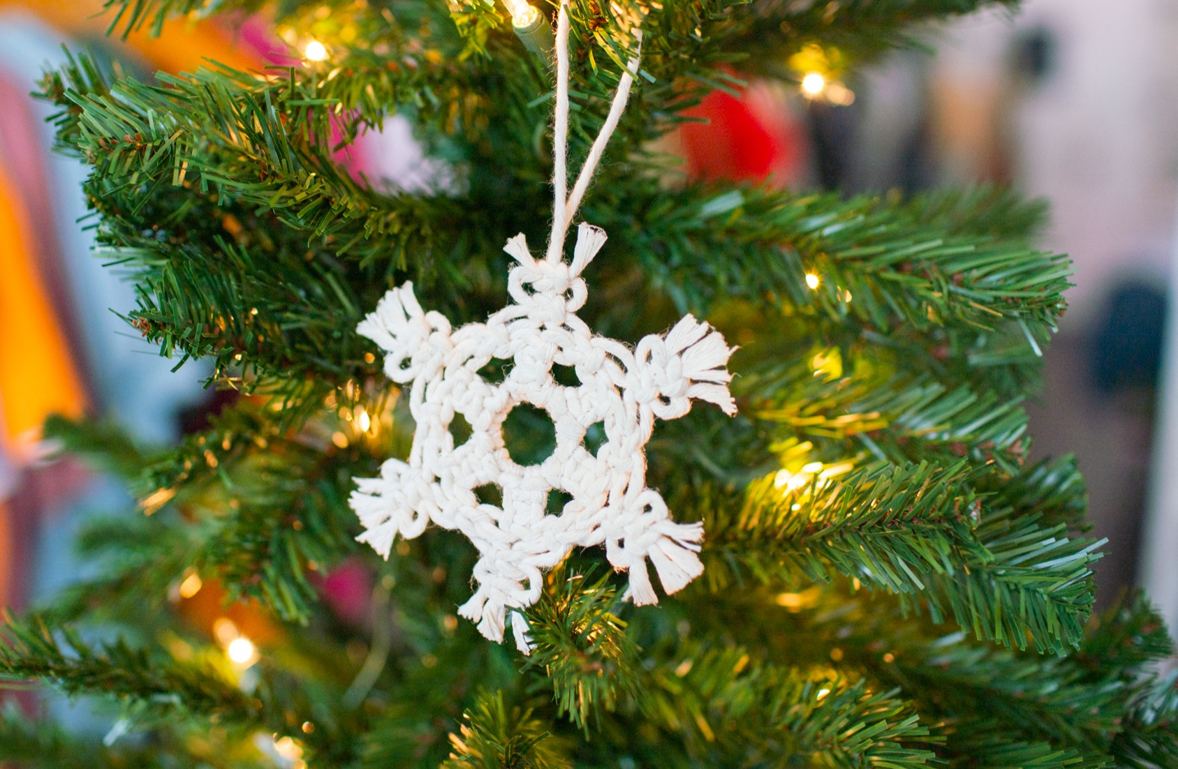 Make A Macrame Snowflake Ornament Step By Step Diy Tutorial Jenny Lemons