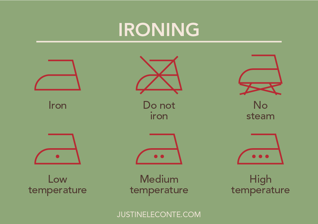 justine leconte blog dry ironing clothing care symbols laundry guide