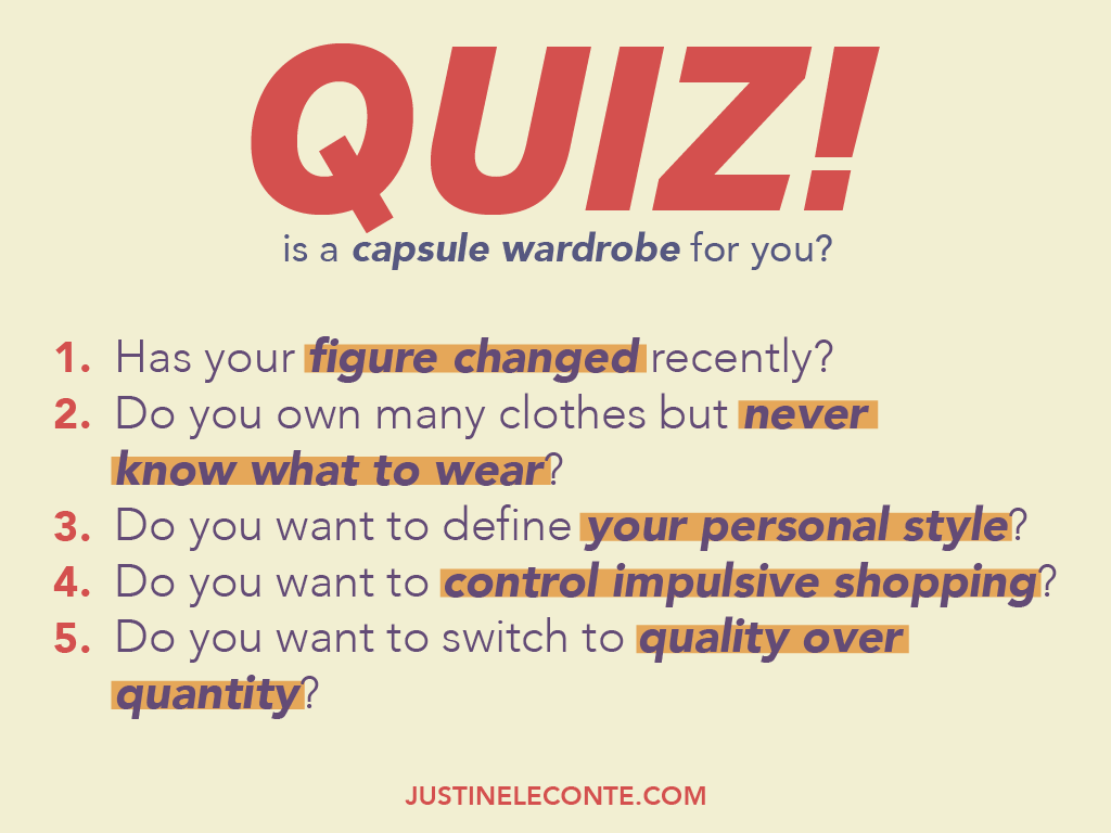 justine leconte capsule wardrobe quiz is it for you