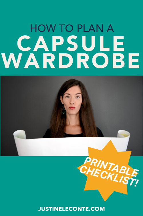 justine leconte capsule wardrobe how to plan checklist download