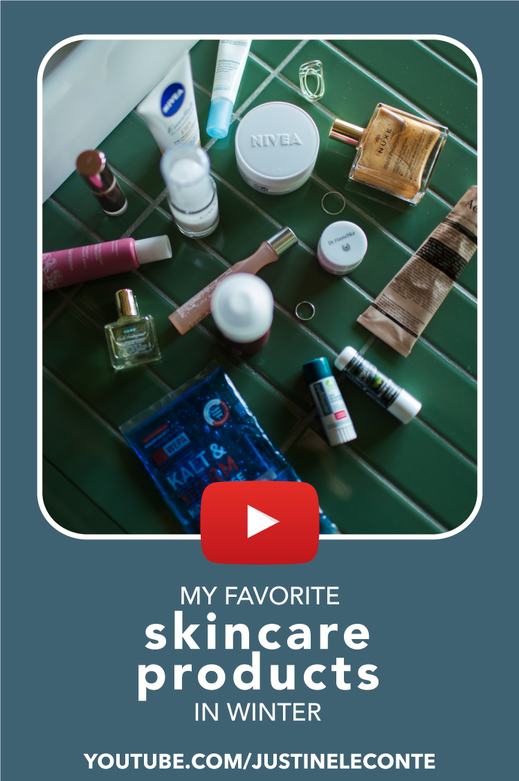 justine leconte my skincare routine winter mornings blog youtube video pinterest
