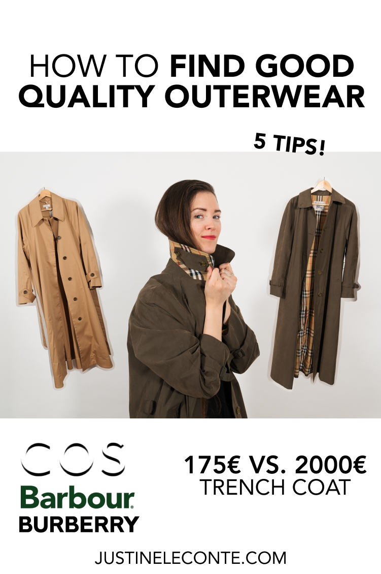 justine leconte tips outerwear blog post trench coats fast fashion good quality burberry barbour cos pinterest
