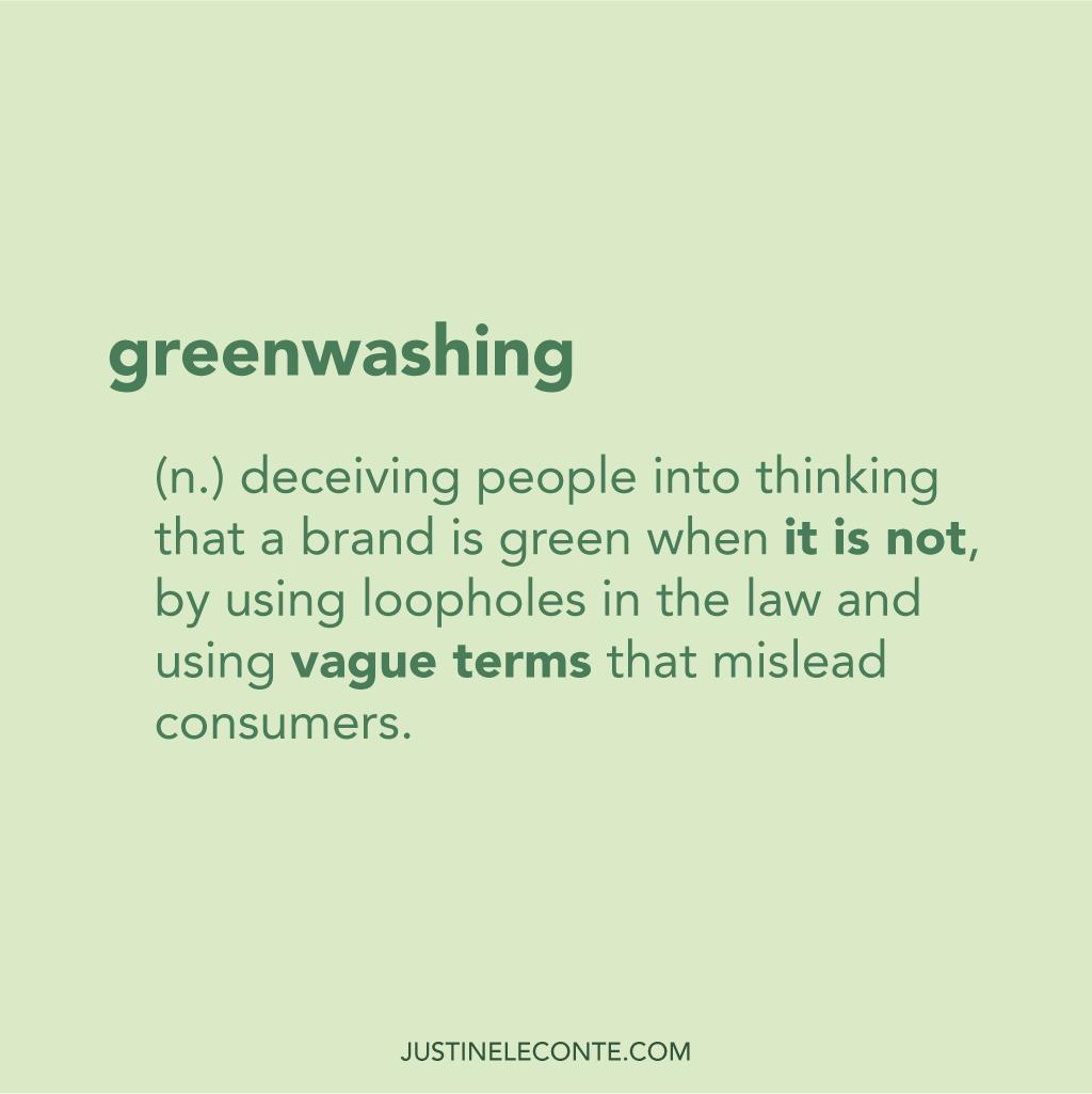 justine leconte greenwashing blog post youtube video