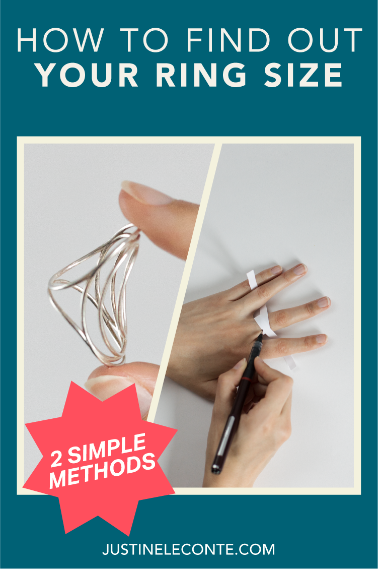 justine leconte jewelry project mirage find out ring size blog post two methods pinterest