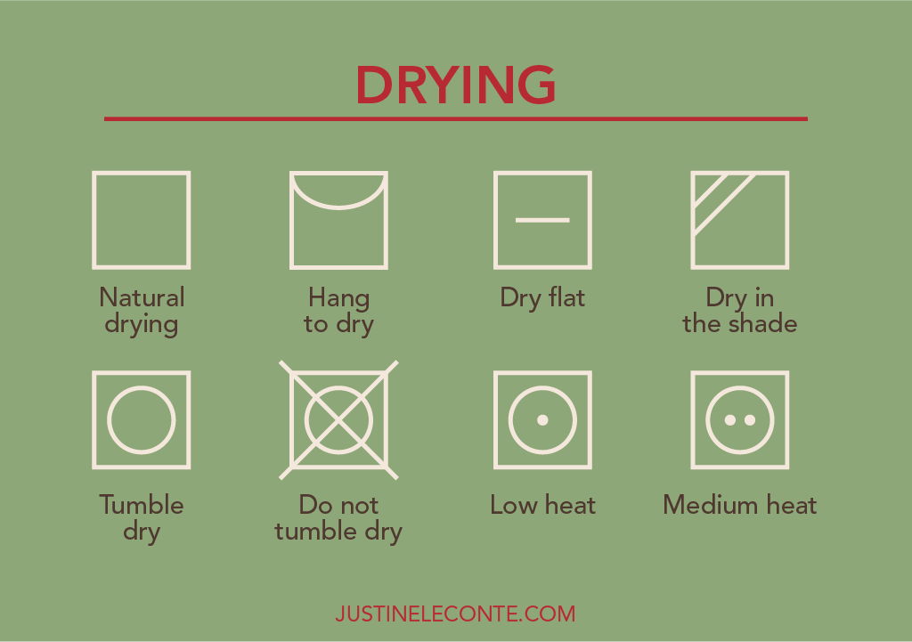 justine leconte blog drying clothing care symbols laundry guide