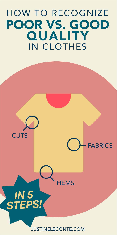 Justine Leconte blog post pinterest good vs poor quality clothing 5 steps
