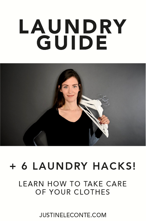 justine leconte clothing care laundry guide cheatsheet pinterest