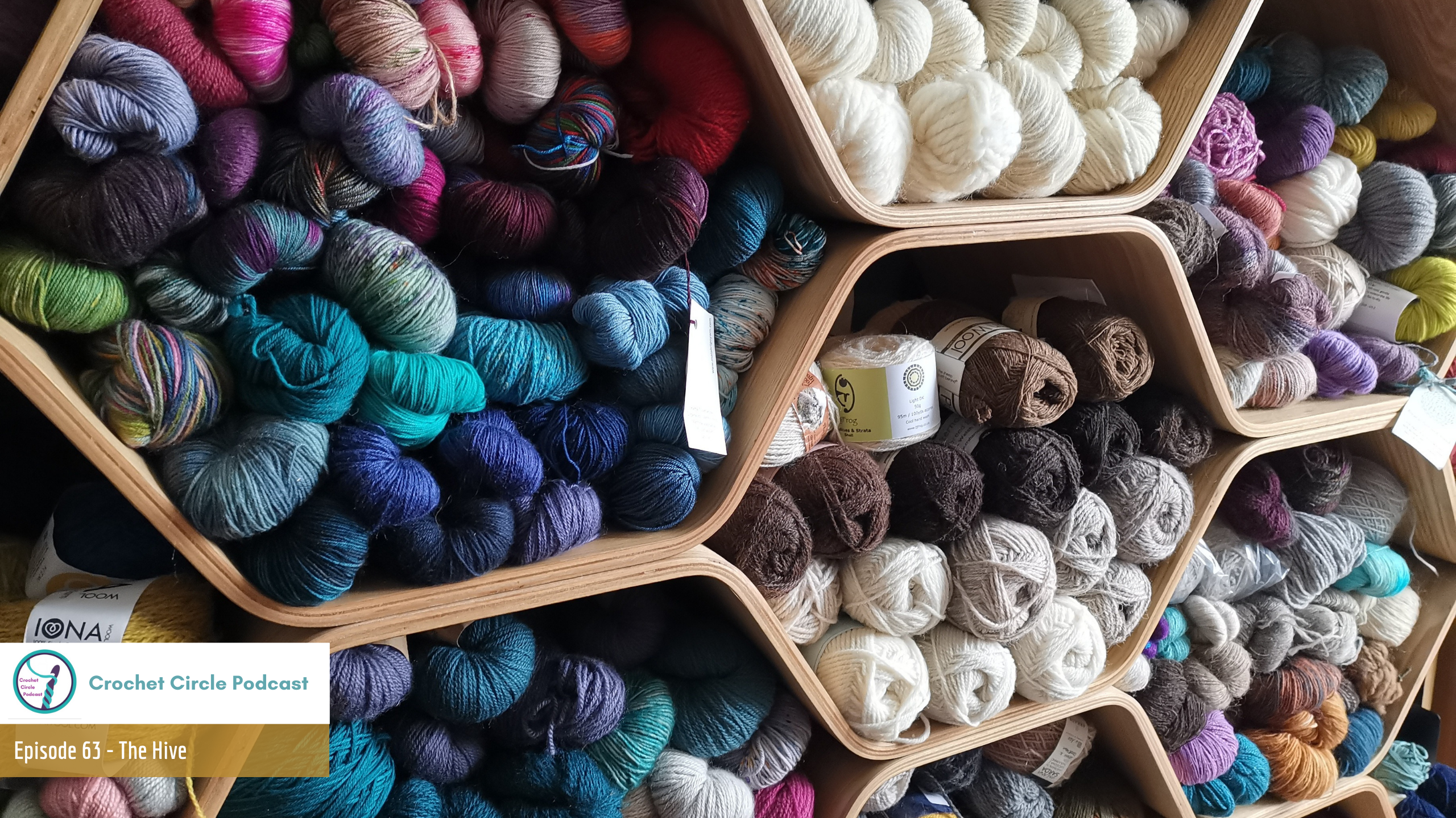 Episode front cover showing shelves full of colourful yarn