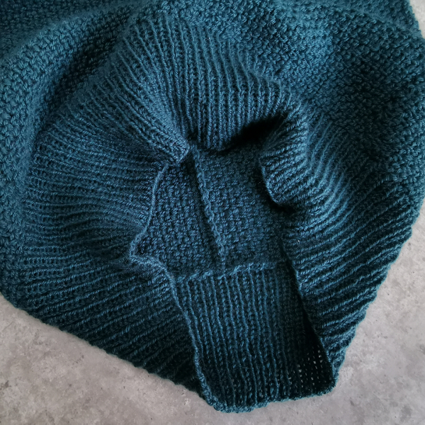 Close up of the deep 1x1 rib of the Color Pop sweater