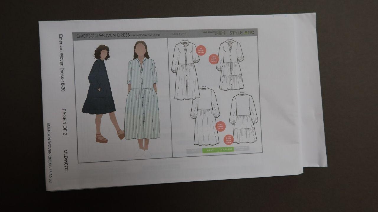 Dresss sewing pattern.