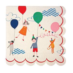 8 petites serviettes en papier anniversaire enfant