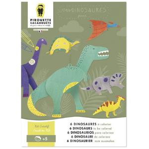 6 suspensions dinosaures à colorier - Pirouette cacahouète