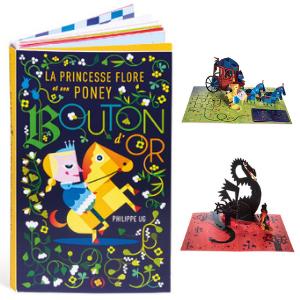La princesse Flore et son poney Bouton d'or - Livre pour enfant Pop-up