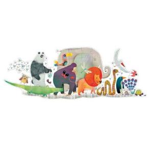 Puzzle géant - La parade des animaux - Djeco