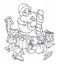 Coloriage Père Noël - à imprimer