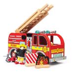 Camion de pompier - Jouet en bois écologique