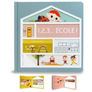 1,2,3... Ecole - Un livre pour les enfants de 3 ans