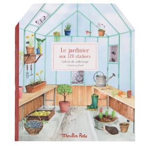 Cahier de coloriage et stickers - Le jardinier - Moulin Roty