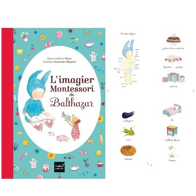 L'imagier Montessori de Balthazar - Hatier - Livre bébé 1 an