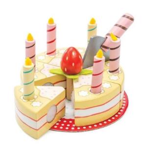 Gâteau d'anniversaire à la vanille - jouet en bois écologique Le Toy Van