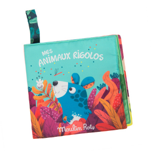 Mes animaux rigolos - Livre tissu - Moulin Roty