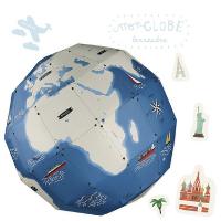 Mon globe terrestre à assembler + 45 stickers - Pirouette cacahuète