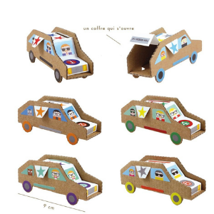 6 voitures à construire - Pirouette Cacahouète