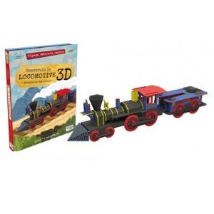 L'histoire des trains - Maquettes 3D de locomotive et livre