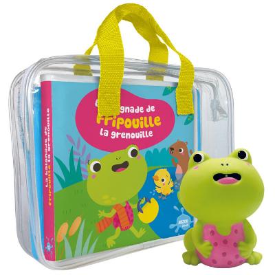 La baignade de Fripouille la grenouille - Livre bébé pour le bain