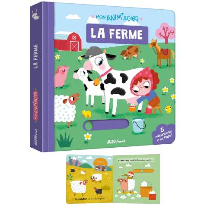 Mon anim'agier La ferme - Auzou - Livre bébé 1 an