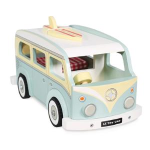 Camping car retro avec surf - Jouet en bois écologique Le Toy Van