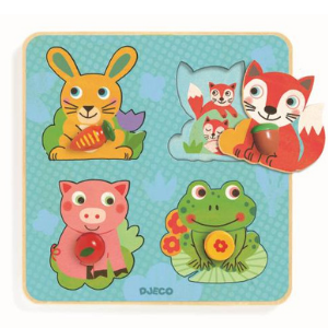 Puzzle à encastrement et gros boutons - Croc-carrot Djeco