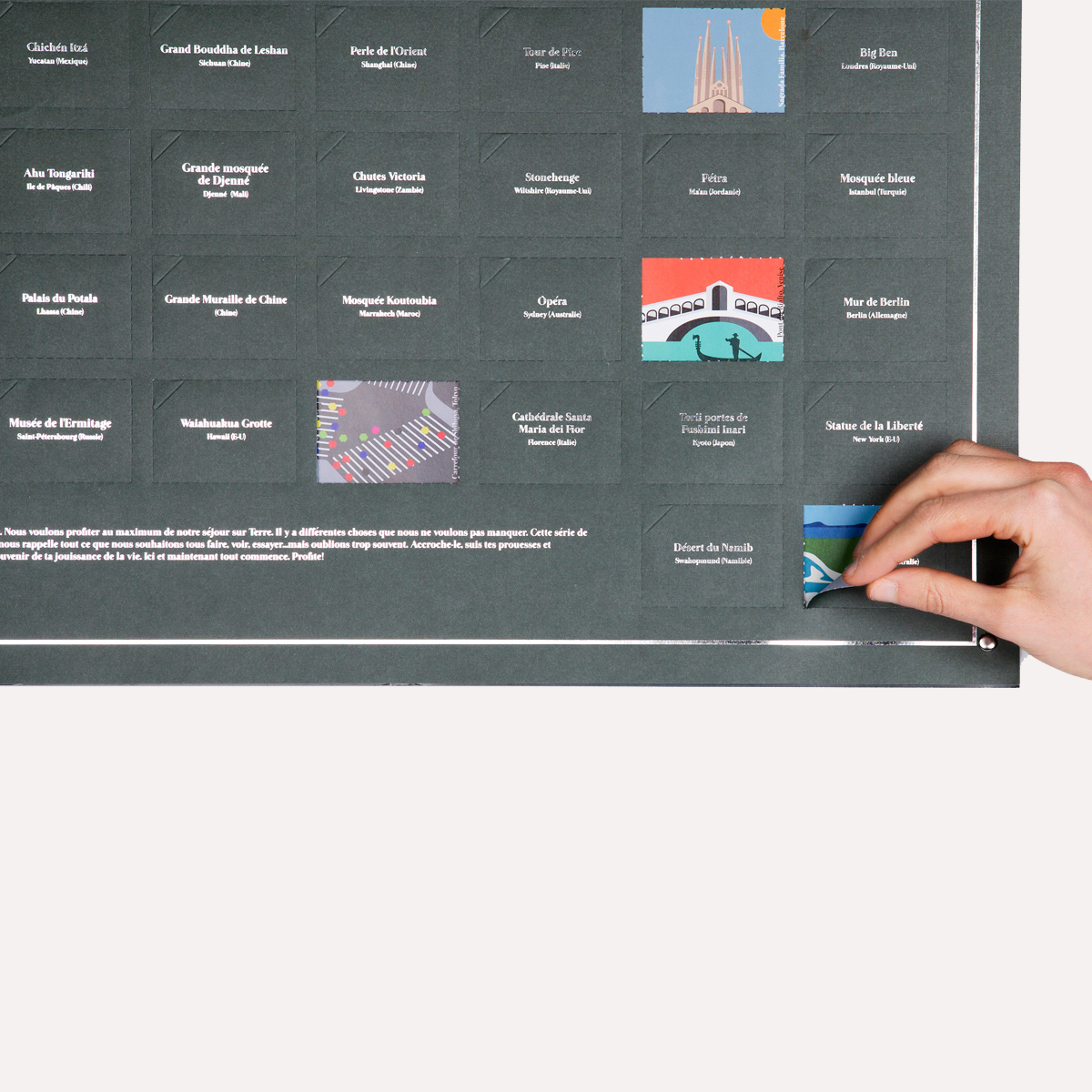Poster : 100 lieux à visiter avant de mourir