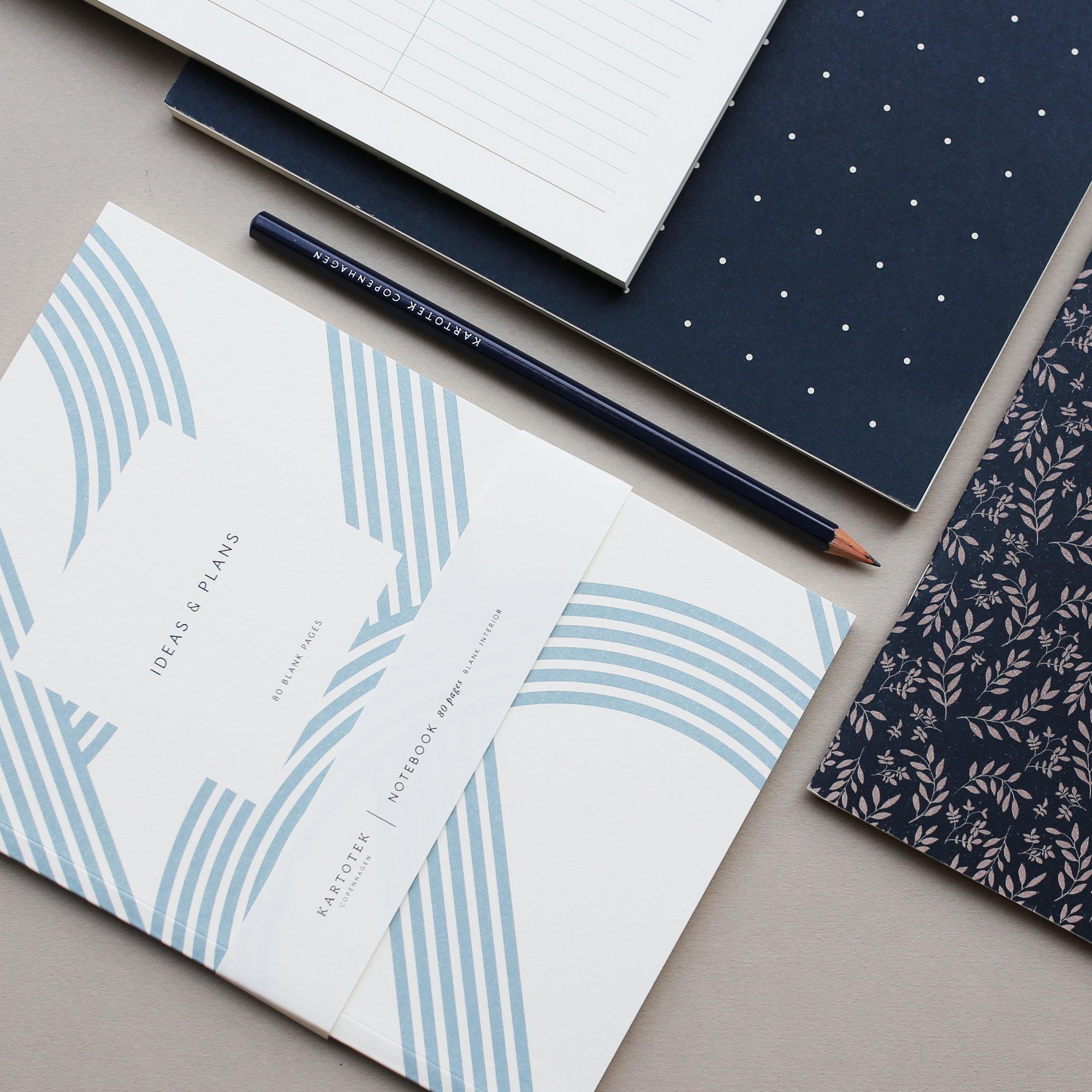 Cuaderno Kartotek Lines   A5   Hojas lisas   Azul