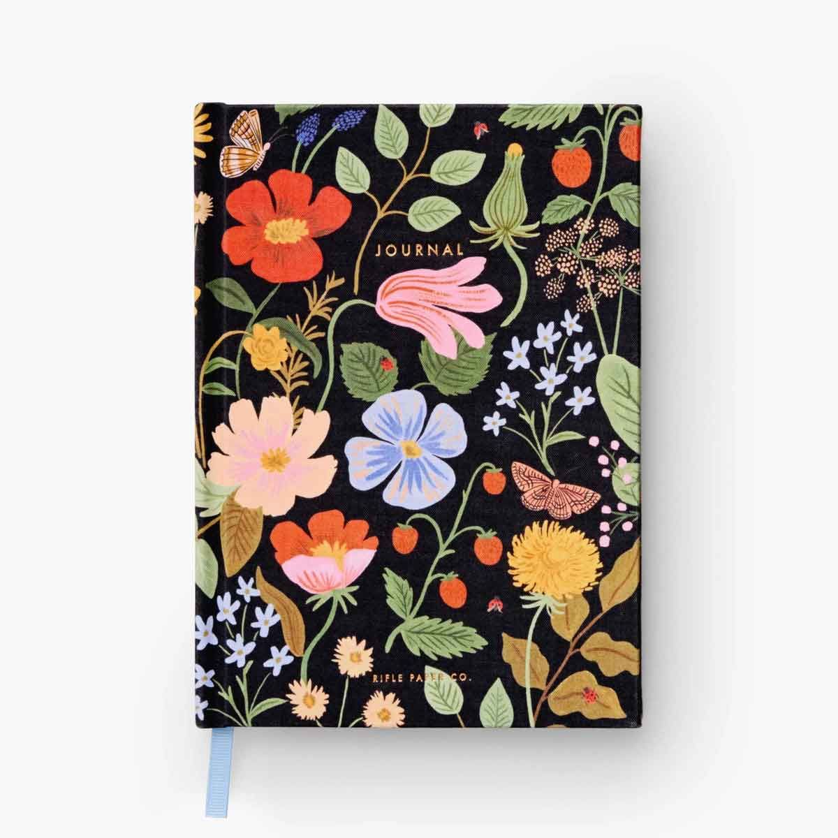 Rifle Paper Co. Cuaderno / Journal Strawberry Fields | Hojas Rayadas | Likely.es