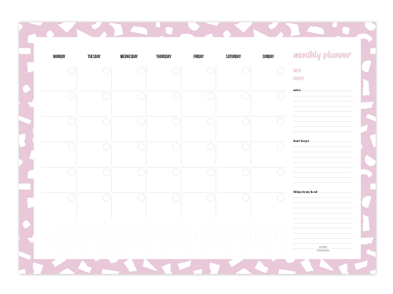 Planificador Mensual A3 Confetti Lilac | Likely.es
