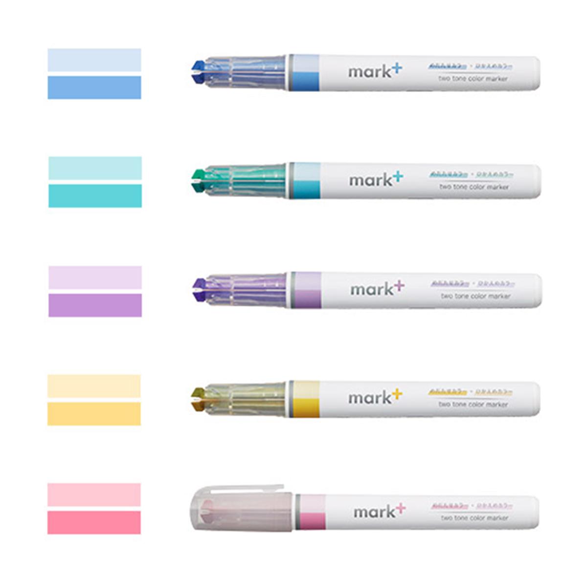 Kokuyo Mark+ Subrayadores Pastel Color Marker Pen