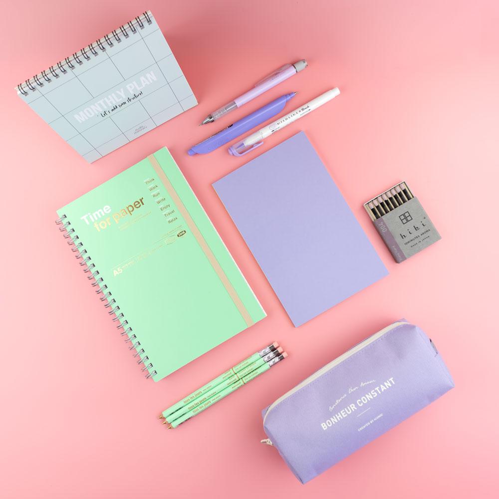 Colección de papelería creativa Mint y Lavanda