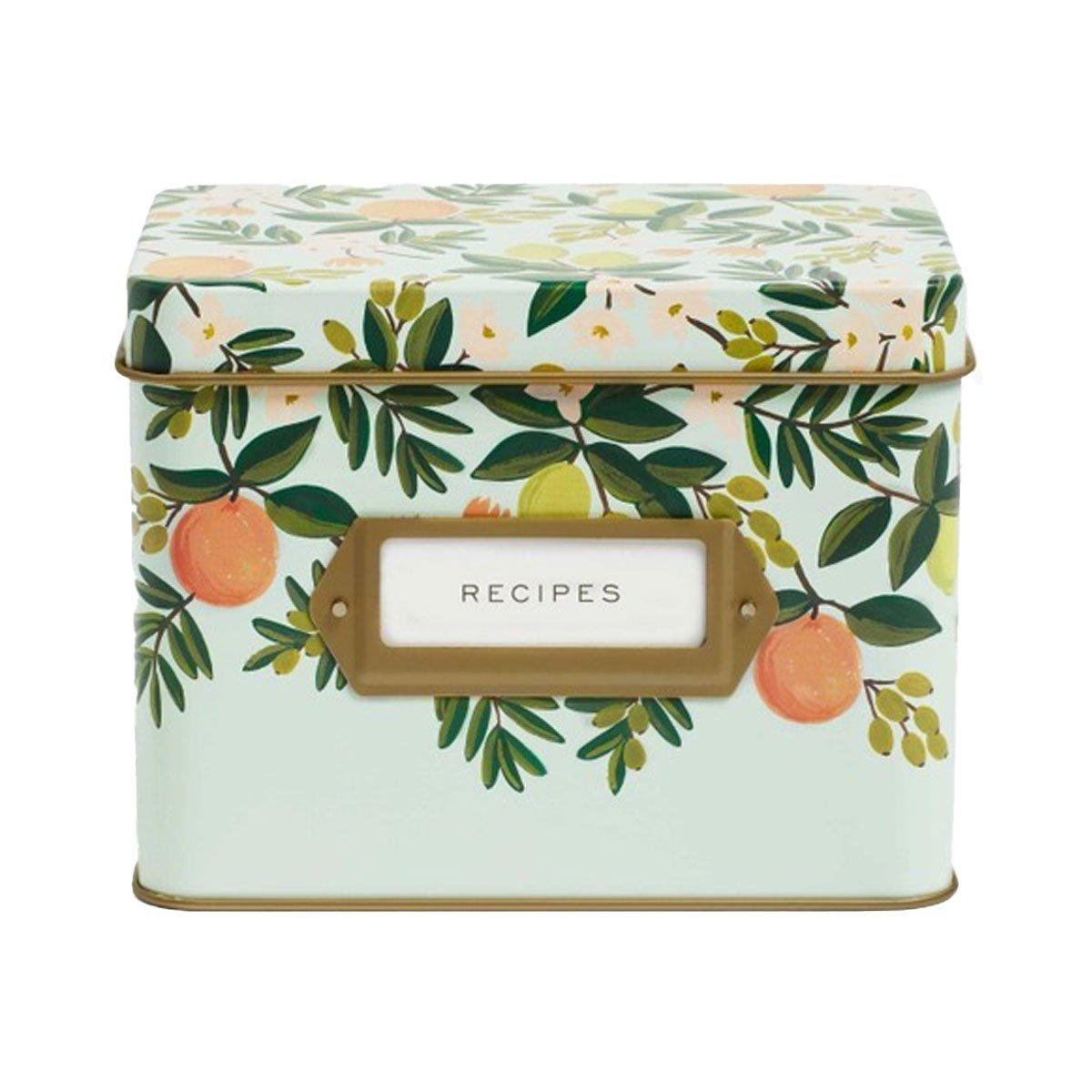 Rifle Paper Co. Caja de recetas Citrus Floral | Likely.es