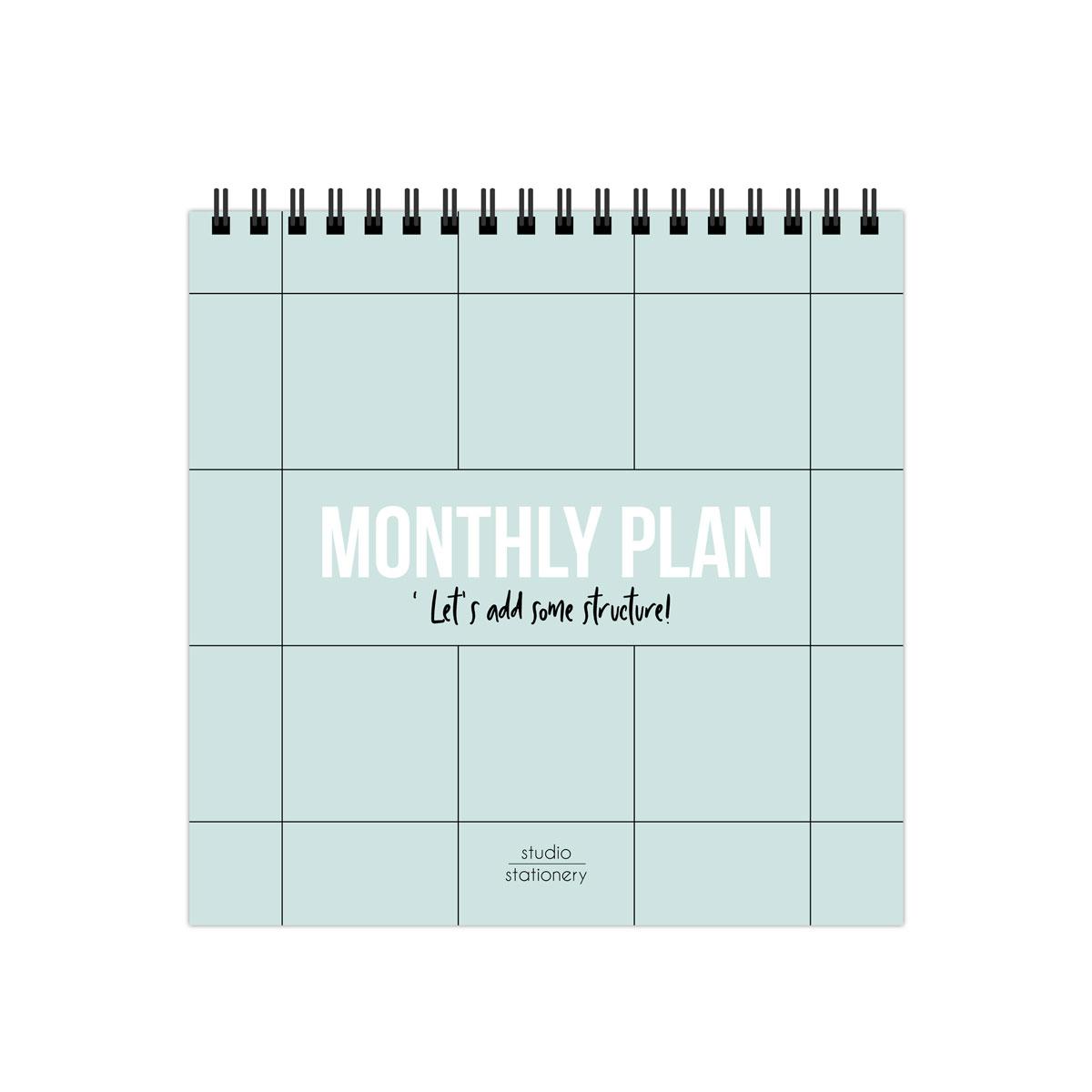 Studio Stationery Planificador Mensual de escritorio  Likely.es