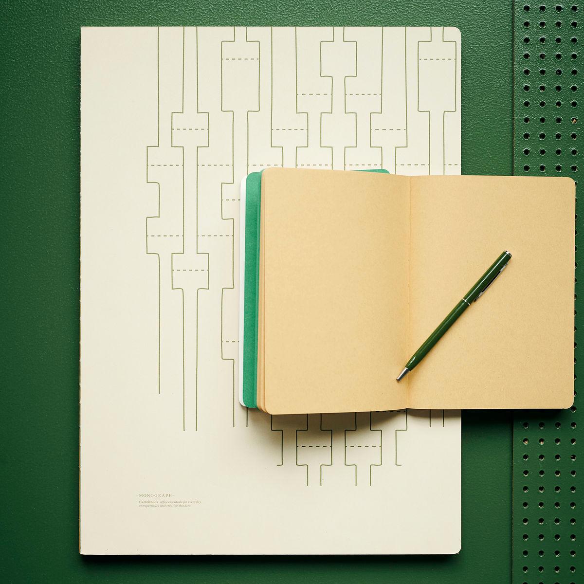 Cuaderno tamaño A3 Geometric Ecru |  Hojas lisas | Cuadernos para artistas