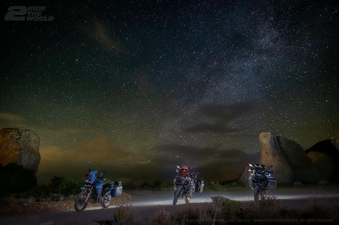 dirt bike under the night sky